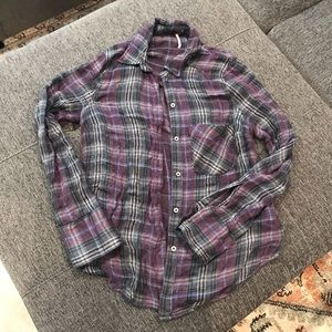 Free people flannel💜